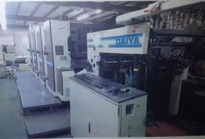 1999 Mitsubishi daiya 3h4 sapc sheet fed offset printing machine