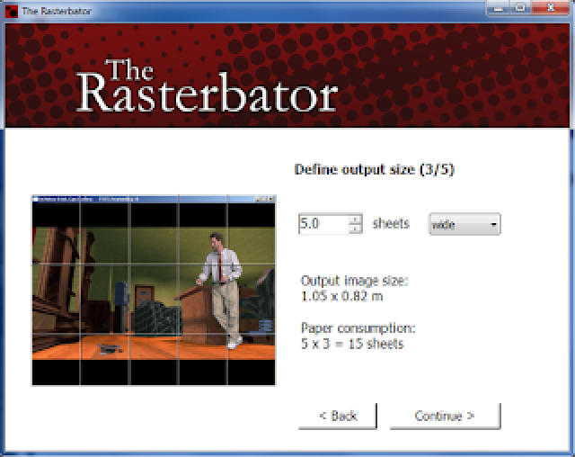 """Ưu điểm của công cụ """"The Rasterbator"""" in hình khổ lớn bằng máy in nhỏ"""