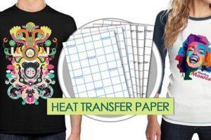 Hướng dẫn cách dùng giấy in chuyển nhiệt lên áo thun sáng màu và áo tối màu